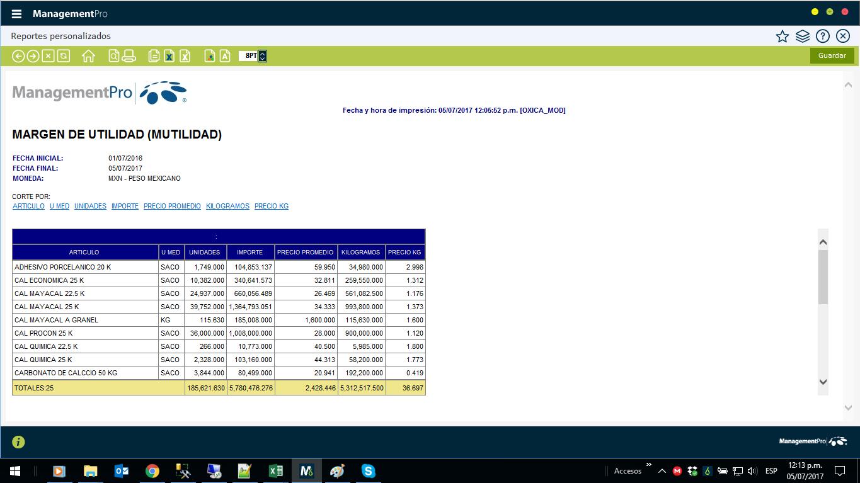 Reportes personalizados SQL