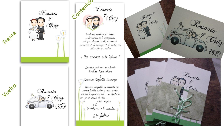 Diseño gráfico para invitaciones impresas