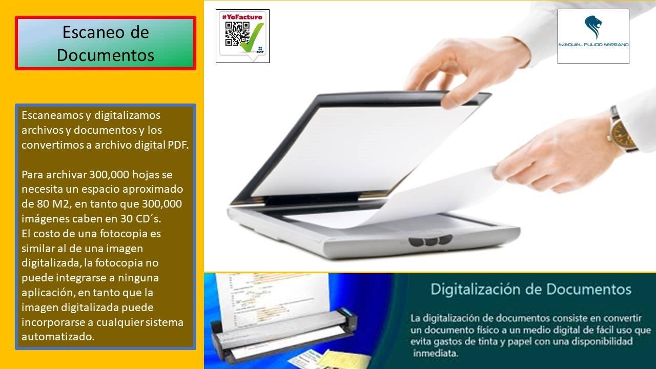 Digitalización de archivos y documentos