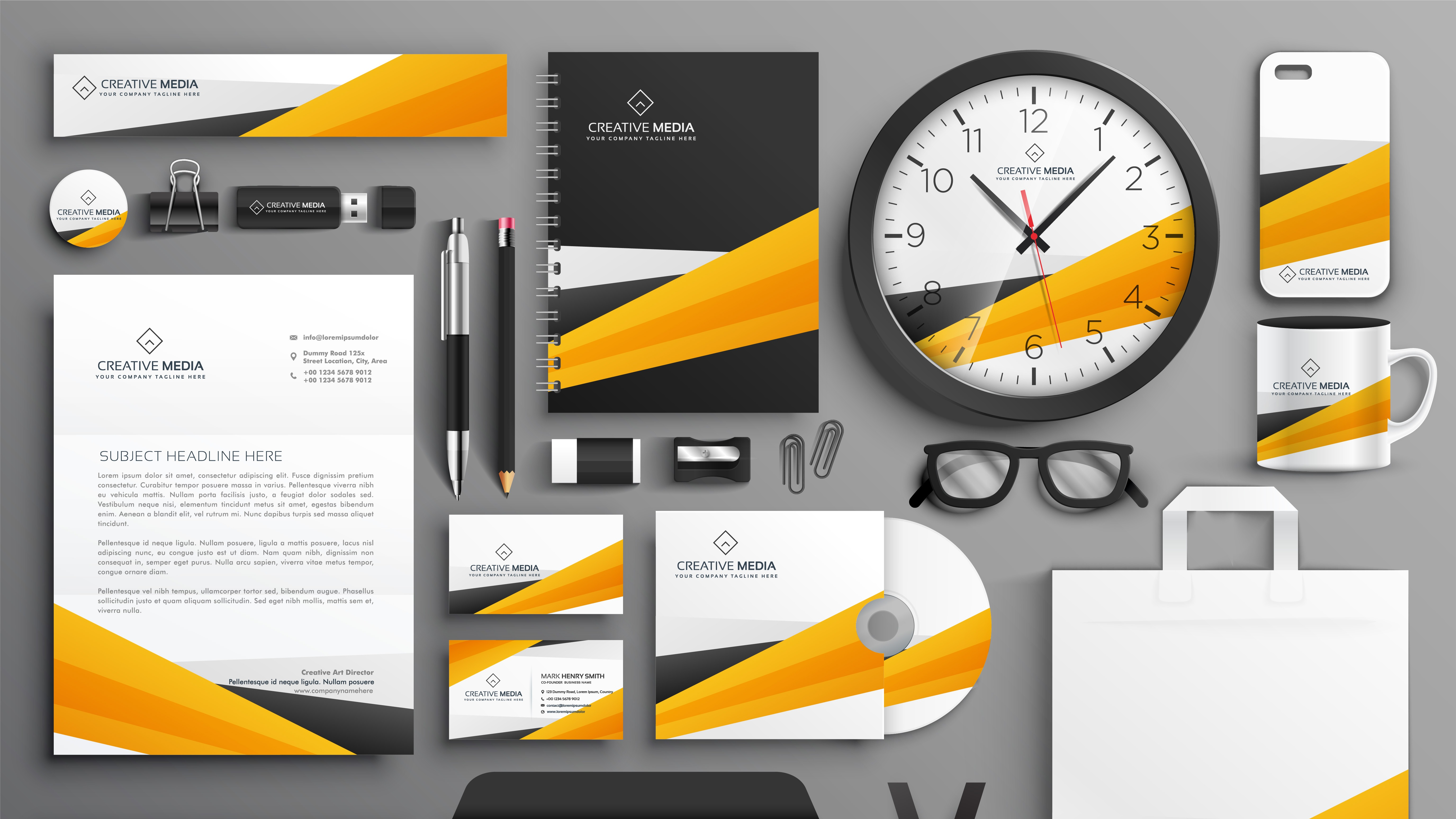Diseño de imagen corporativa sin logo