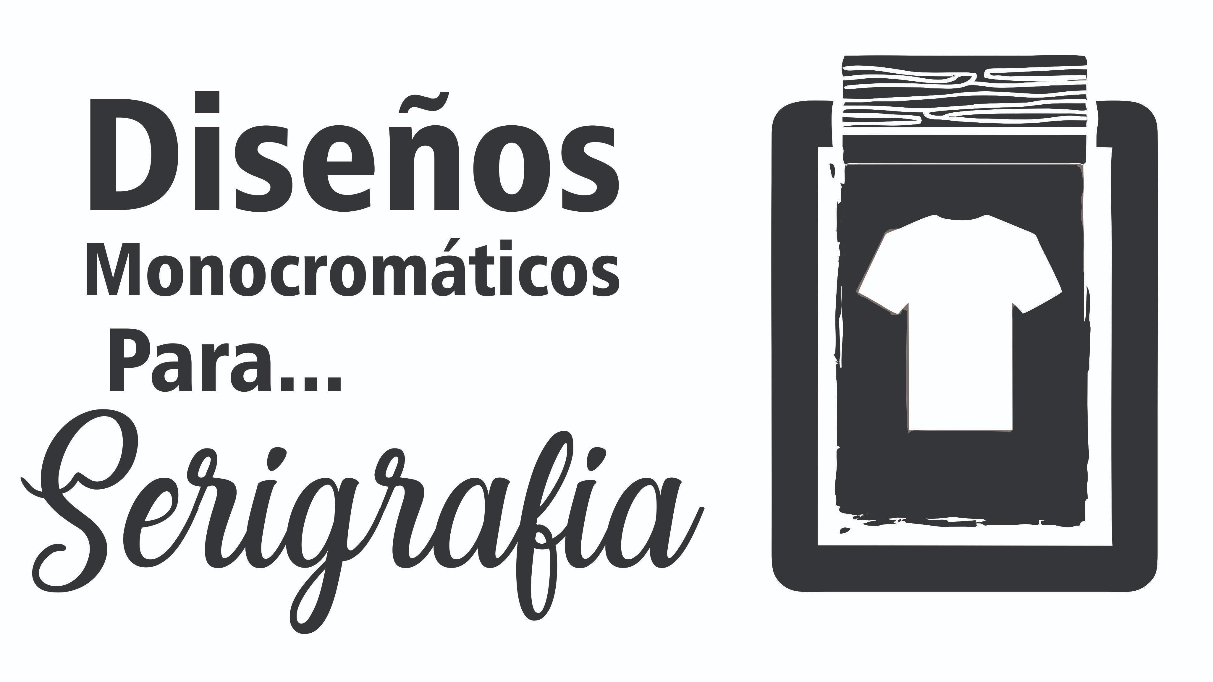 2 Diseños monocromáticos para serigrafía