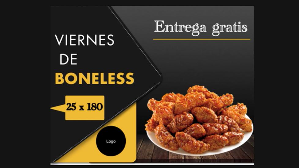 Banner de comida rápida