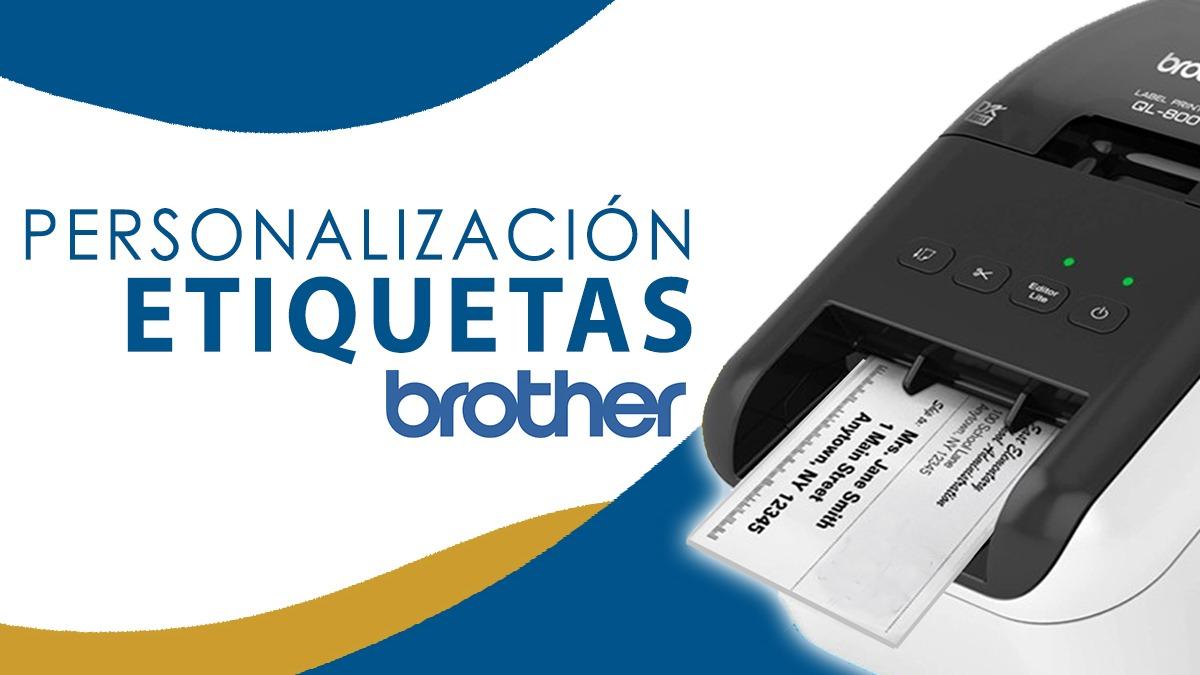 Personalización a etiqueta Brother